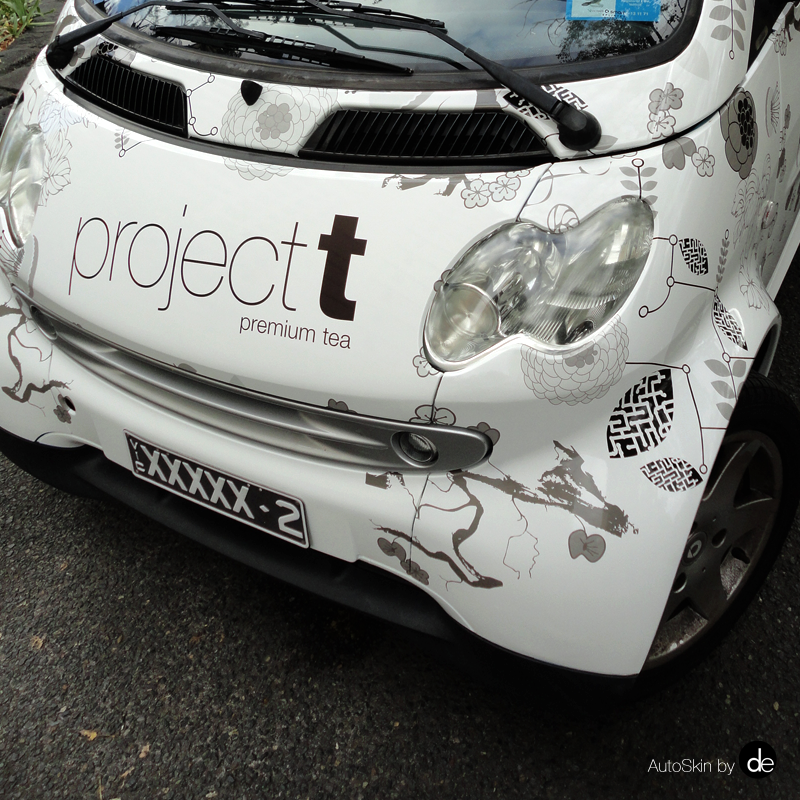 Full Vehicle Wrap, Smart Car AutoSkin, Mixed Botanical Theme For A Premium  Tea Product