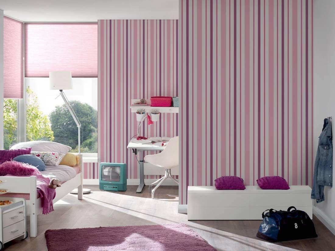 Rw1011 Boy And Girl Wallpaper Striped Wallpaper Girl Wallpaper