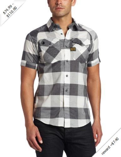 G-Star Men's Arizona Arch Shirt Sleeve Shirt
