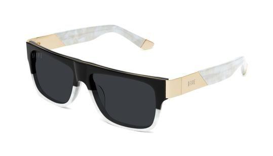 b97e77bb36 9FIVE 22 Marble Croc   24k Gold Sunglasses