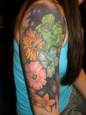 Flor Tatuajes Hawaiano 1 Flores Tatoo Pinterest Hawaiian