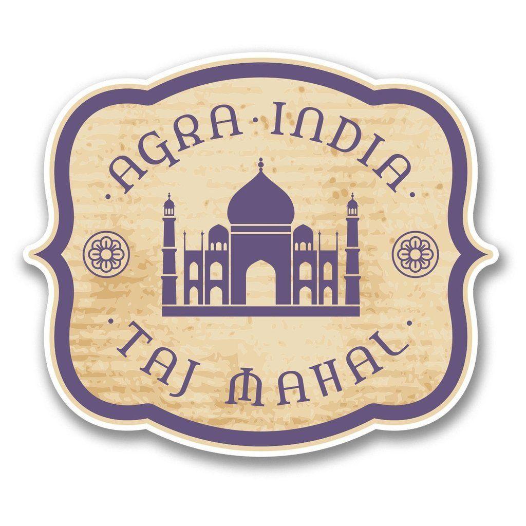 2 x agra india taj mahal vinyl sticker 6394 taj mahal agra