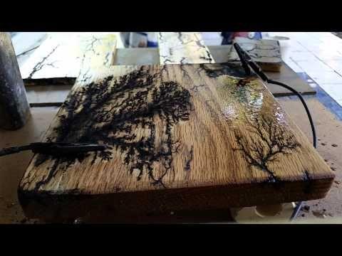 Fractal Wood burning  by Sandy  Woodburning  Pinterest  Woods