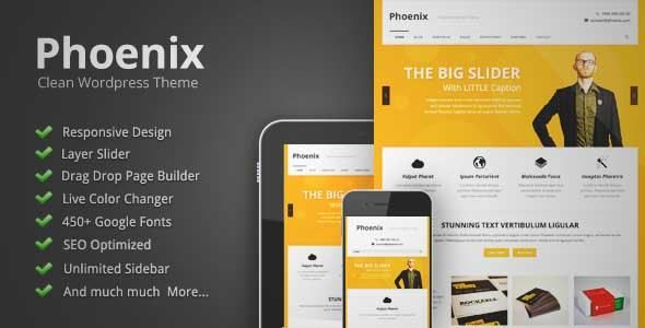 Download and review of Phoenix - Clean Responsive Wordpress Theme ...