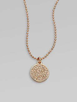 Michael kors rose gold pave necklace from saks featured on this rose gold pave pendant necklace by michael kors is a pretty way to add a touch of sparkle to your work wardrobe mozeypictures Image collections