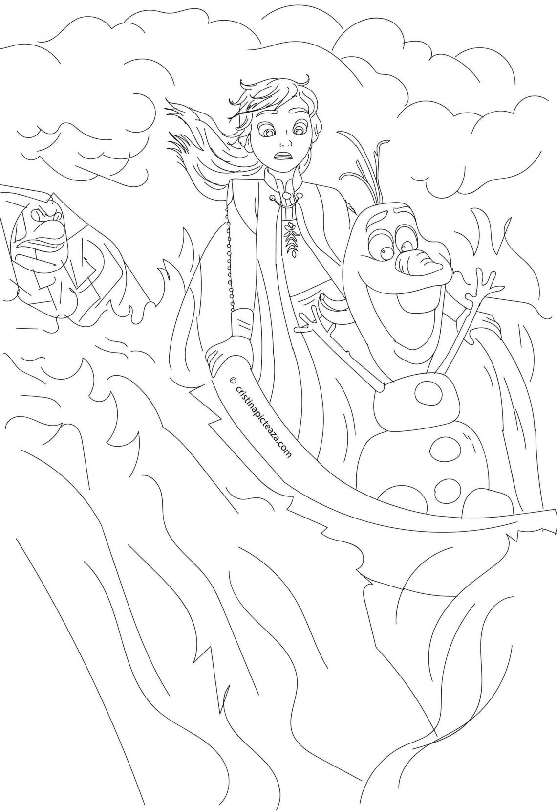 Frozen 2 Cristinapicteaza Com Anna Olaf Coloring Pages In 2020 Disney Princess Coloring Pages Frozen Coloring Pages Coloring Pages
