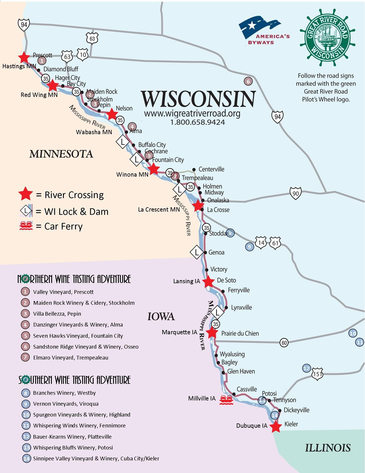 Planning Your Wisconsin Great River Road Trip Wine Tasting Opportunities Abound With 14 Vine To Bottle Viney With Images Wisconsin Travel Wisconsin Vacation Great River
