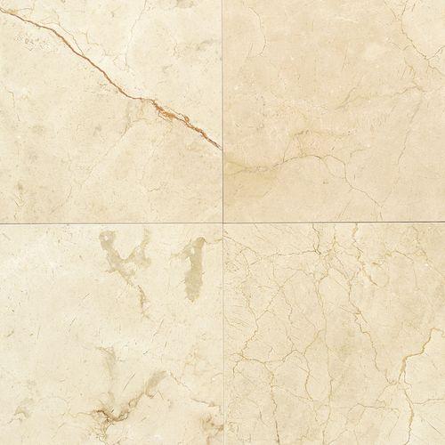 Crema Marfil Porcelain Tile: Master Bath Accent Floor Tile- Daltile, Crema Marfil