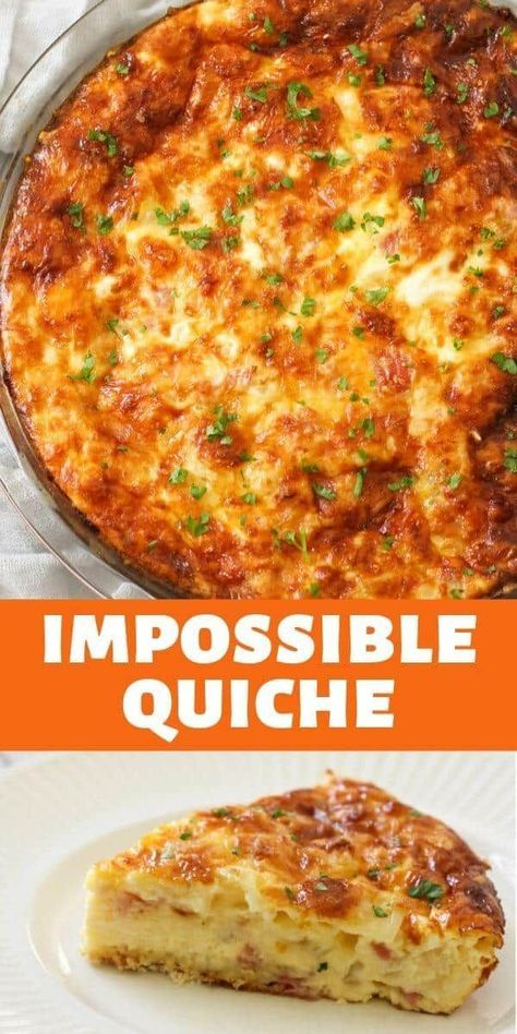 Impossible Quiche (Crustless Ham and Cheese Quiche