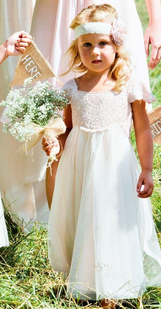 72885a0bee8f Empire Waist Vintage Flower Girl Dress With Cap Sleeves Yellow ...