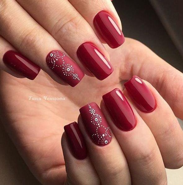 маникюр - дизайн ногтей | Arte de uñas | Матовый дизайн ...