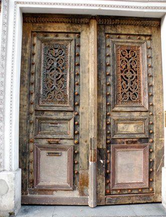 old carved doors.