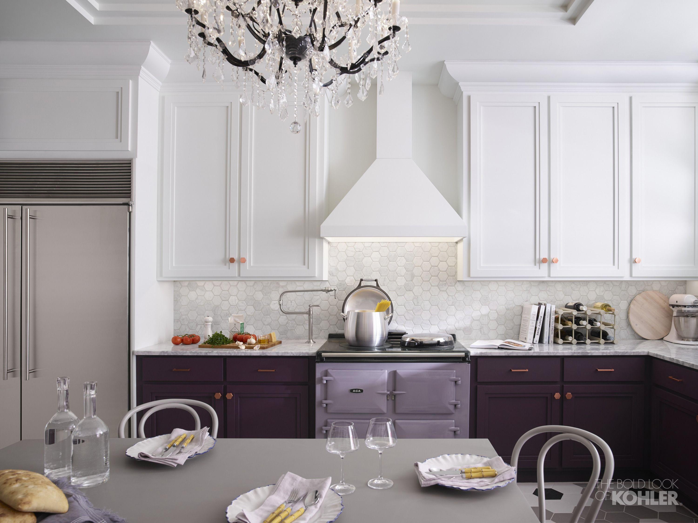 American Plum Kitchen Kohler Ideas Purple Kitchen Cabinets Purple Kitchen Kitchen Inspirations