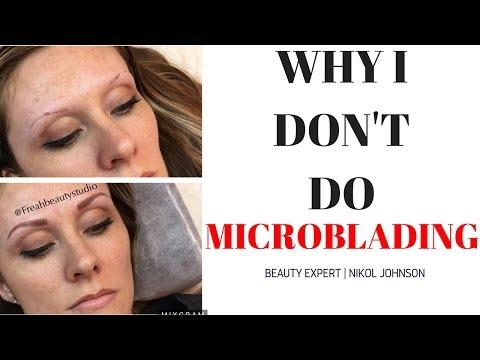WHY I DON'T DO MICROBLADING Nikol Johnson YouTube