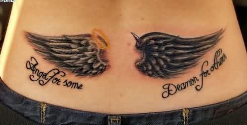 Ange Et Demon Ailes Tatouages Au Bas Du Dos Tatouages Aile D