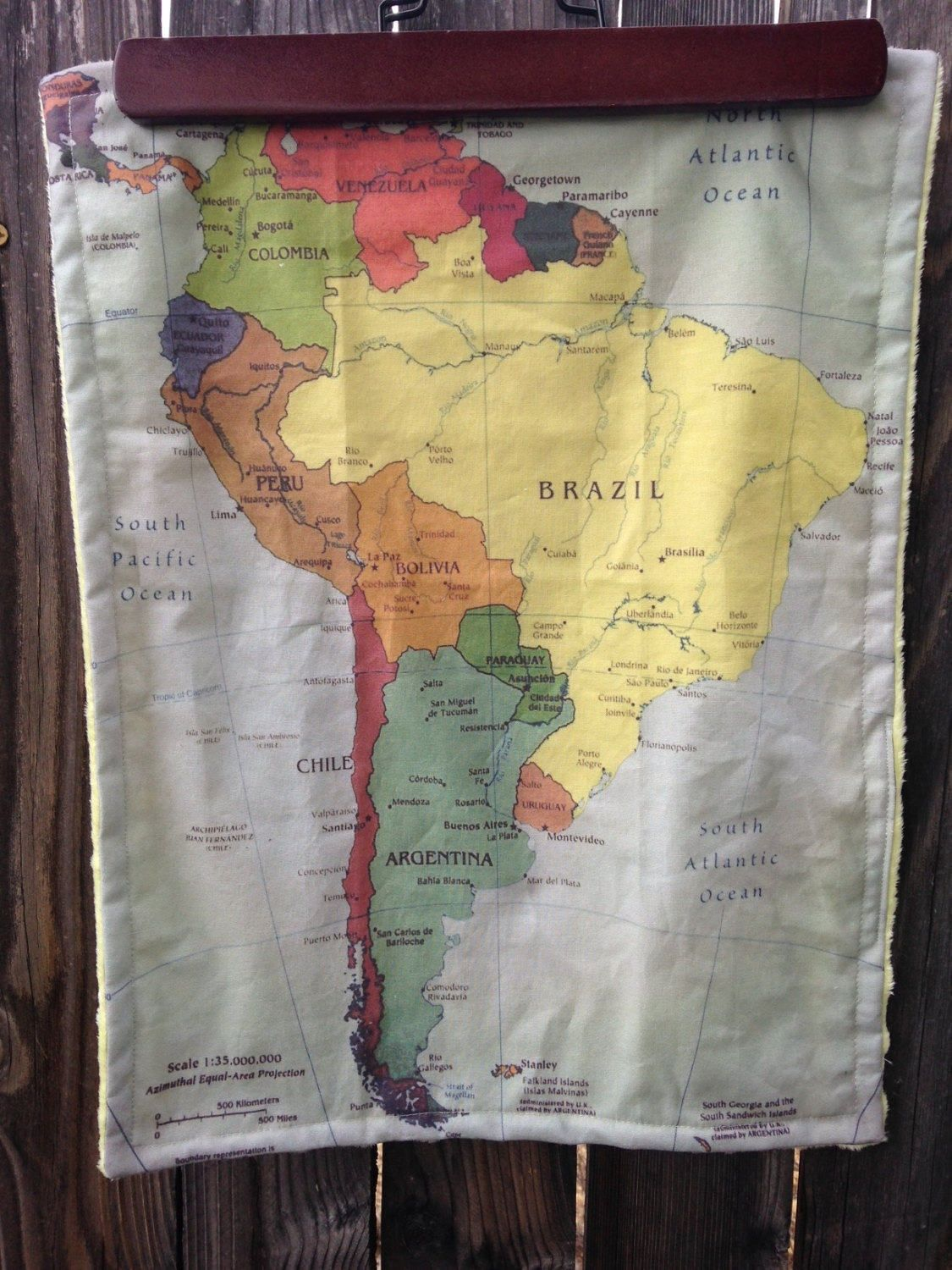South america map baby minky security blanket small knit travel south america map baby minky security blanket small knit travel blanky lovie lovey gumiabroncs Images