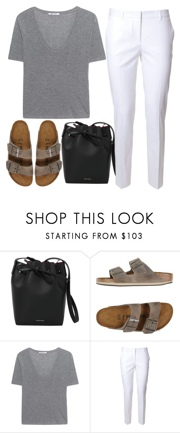 """917"" by florentina616 ❤ liked on Polyvore featuring Mansur Gavriel, Birkenstock, T By Alexander Wang and Alberto Biani"