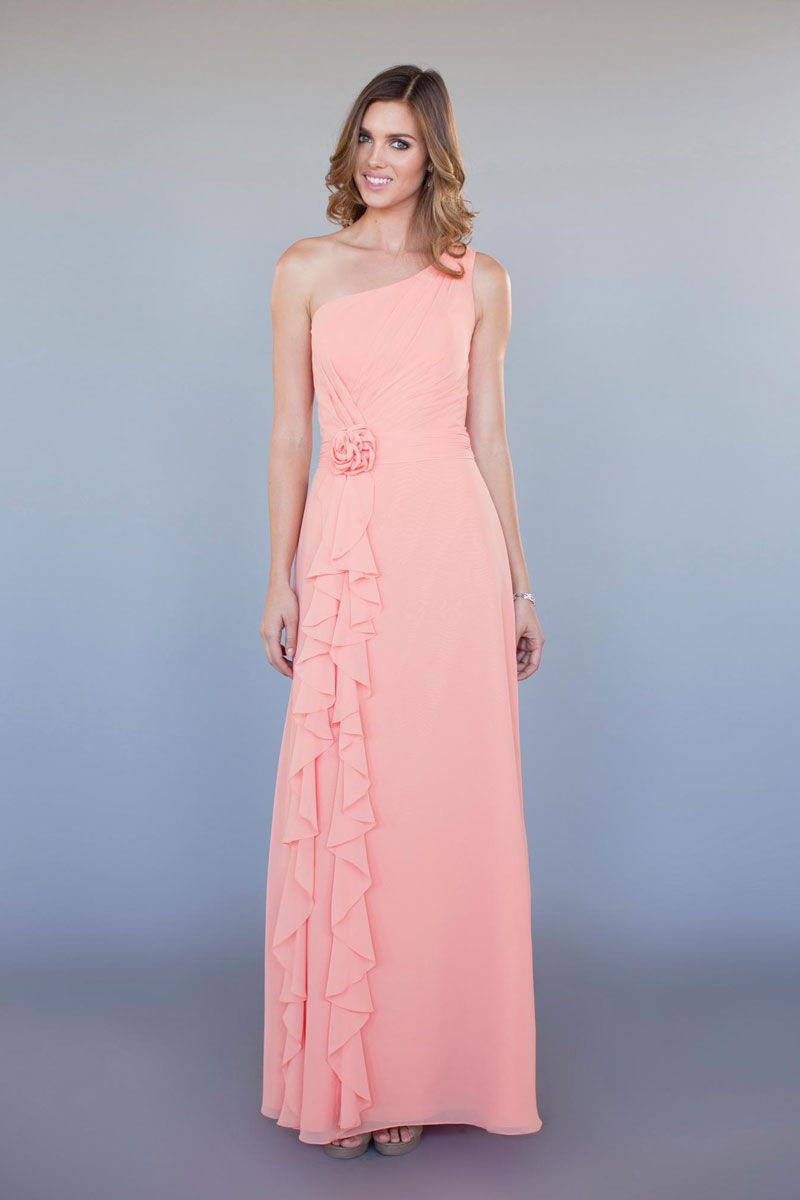 ruffled bubble pink 298.00 dress | #homecoming/ #prom dress | Pinterest