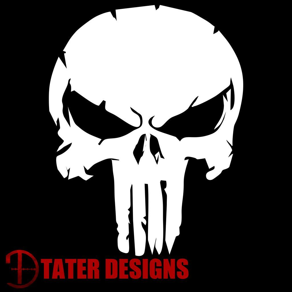 Distressed Punisher Decal