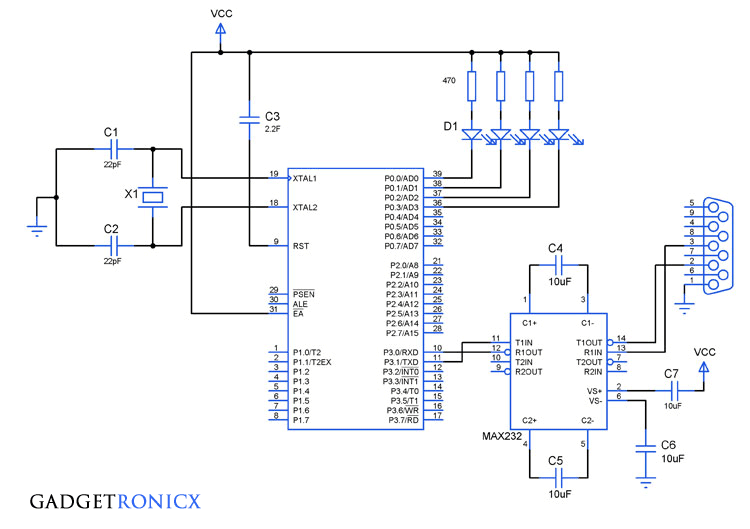 Serial Interrupt Programming In 8051 Microcontroller Gadgetronicx Microcontrollers Programming Serial
