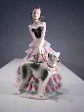 Goebel - Dame Frau mit Windhund