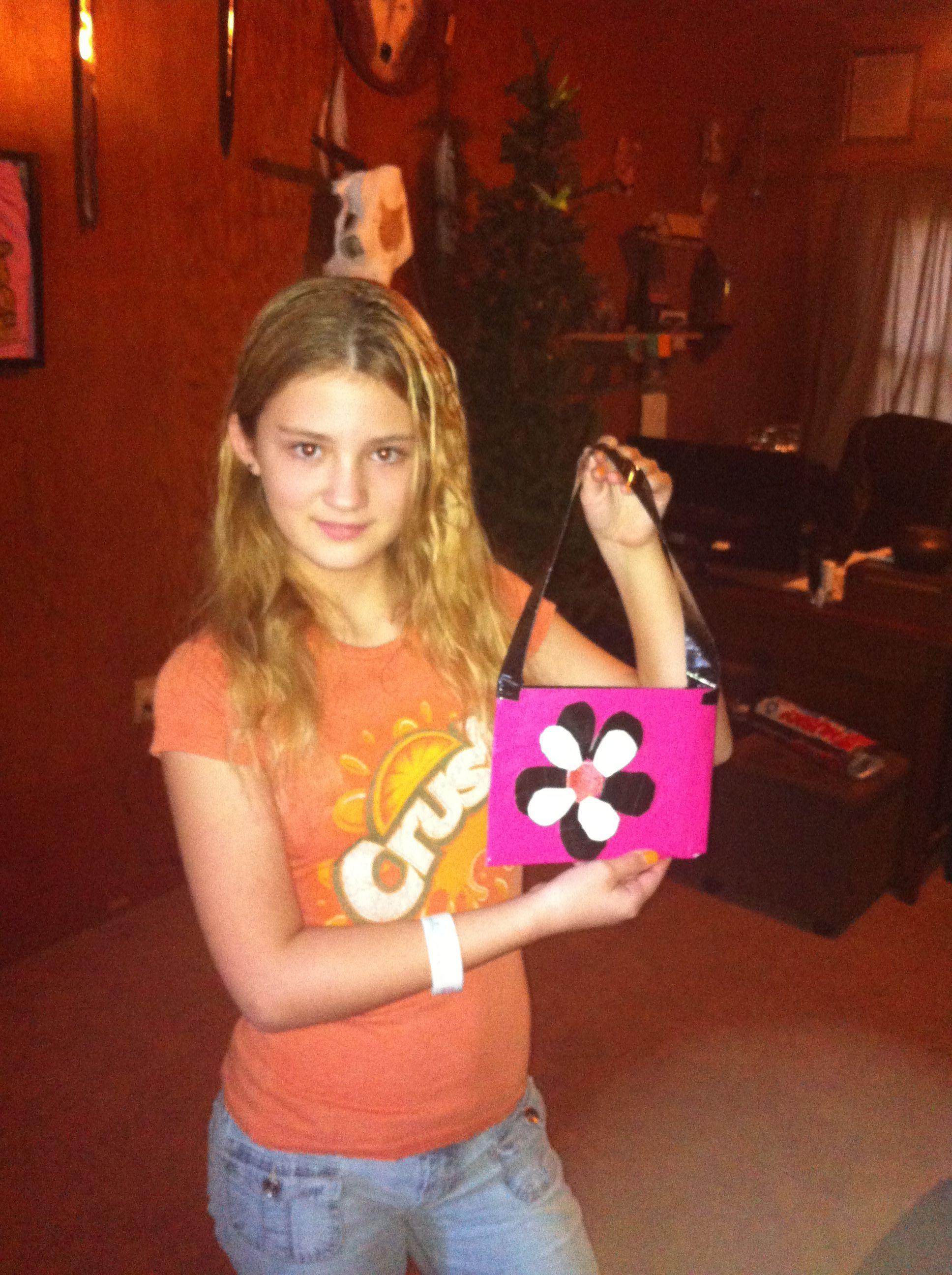 Erin's duct tape purse