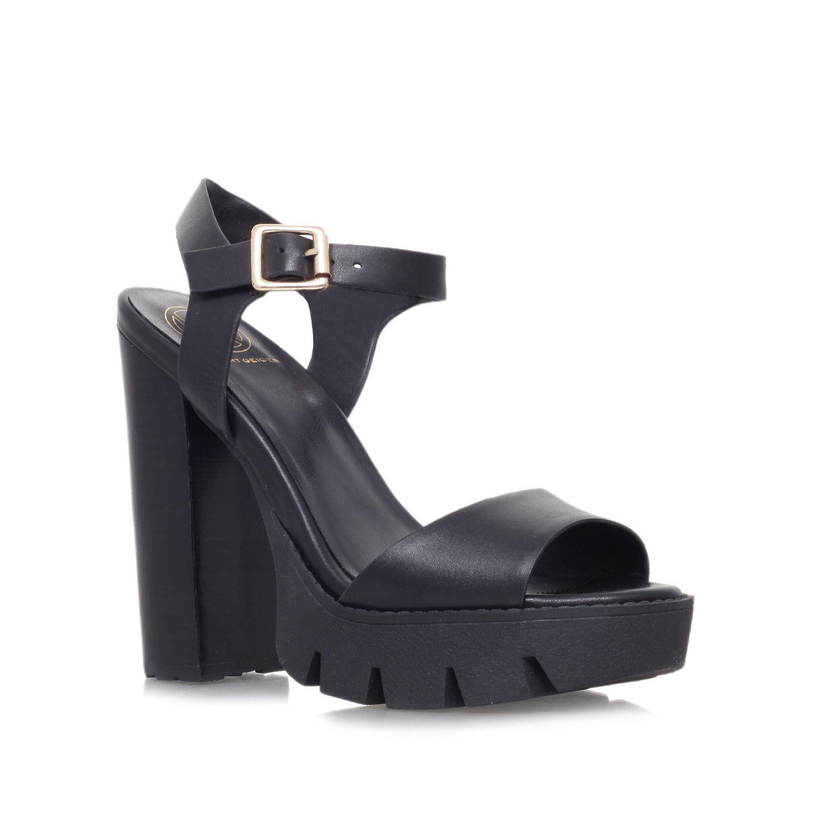 KG Kurt Geiger Womens Nanette Leather Heeled Platform