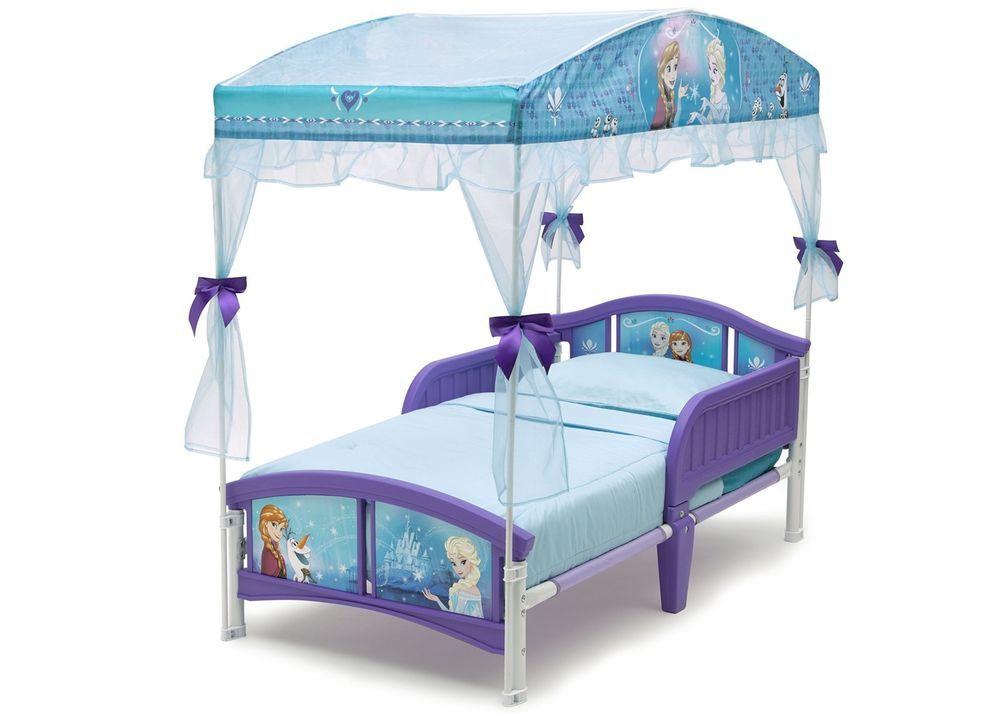 Girls Canopy Toddler Bed Frozen Kids Child Bedroom Princess Anna