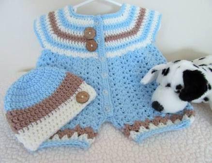 Resultado de imagem para newborn boy romper crochet free pattern ...