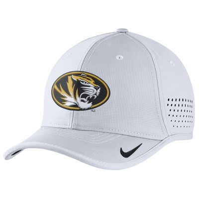 2c69cd35e5fbc Missouri Tigers Nike Coaches Sideline Vapor Performance Adjustable Hat -  White