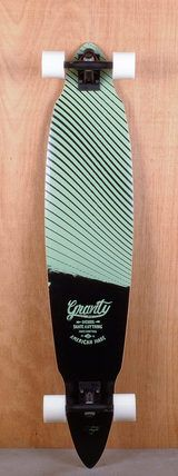 "Gravity 45"" Pintail Blurred Lines Teal Longboard Complete"
