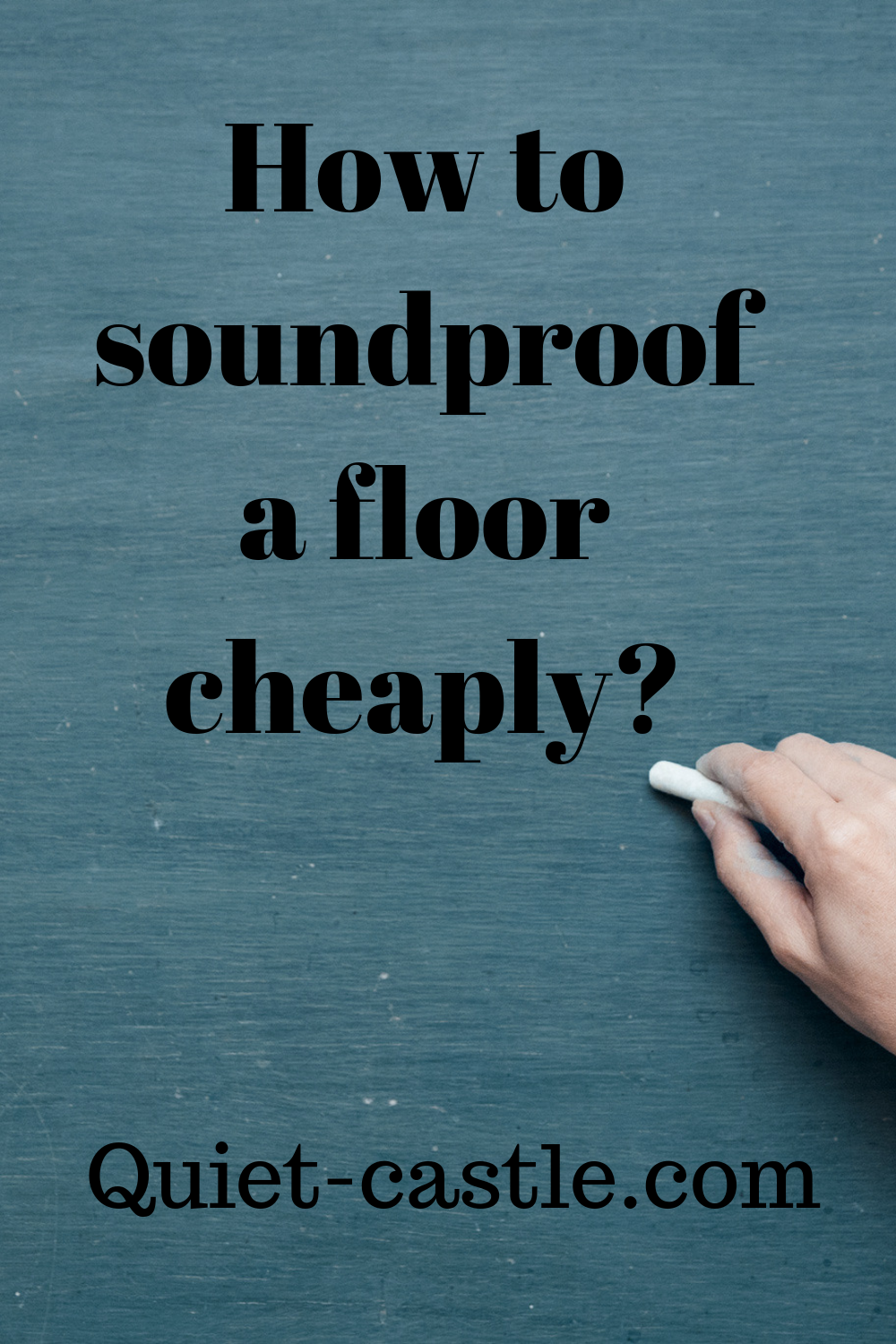 How To Soundproof A Floor Cheaply Sound Proofing Sound Proof Flooring Flooring