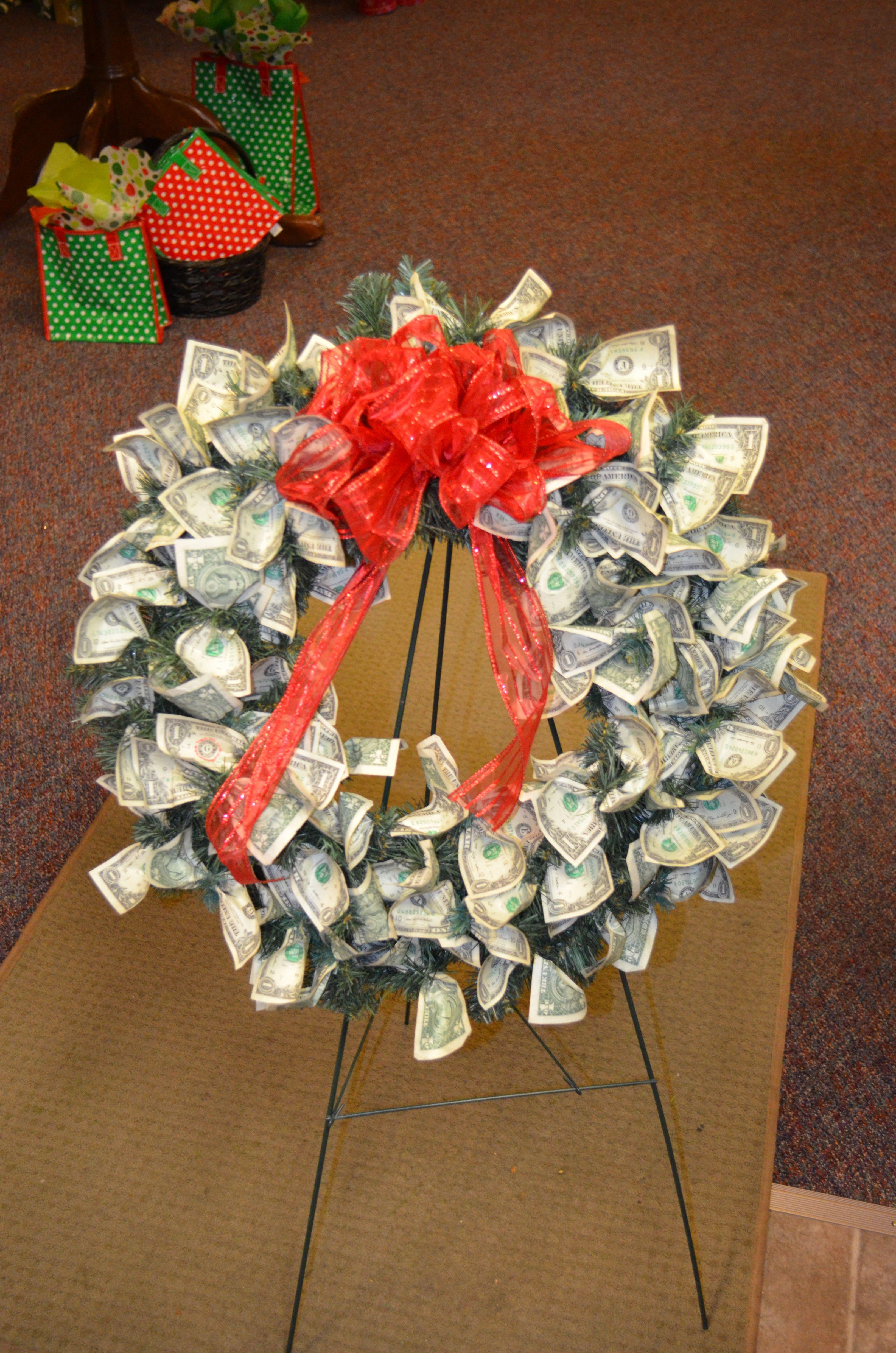 Custom made money wreath 70 dollar bills for a 70th birthday custom made money wreath 70 dollar bills for a 70th birthday sarahs flowers dhlflorist Choice Image
