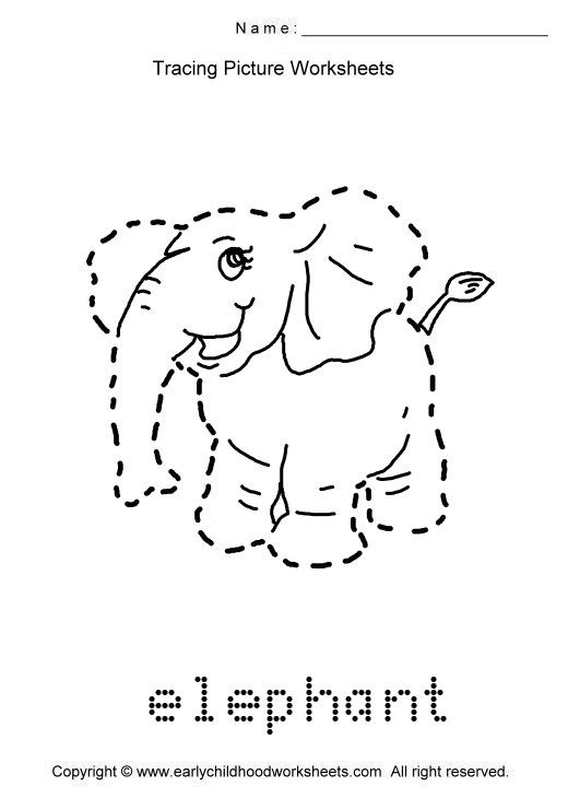 trace animals ... images as. To print this worksheet click Tracing Picture Worksheets praca ...