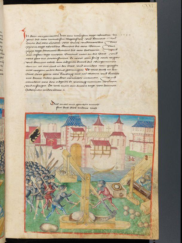 Bern, Burgerbibliothek, Mss.h.h.I.1, f. 251 – Diebold Schilling, Amtliche Berner Chronik, vol. 1