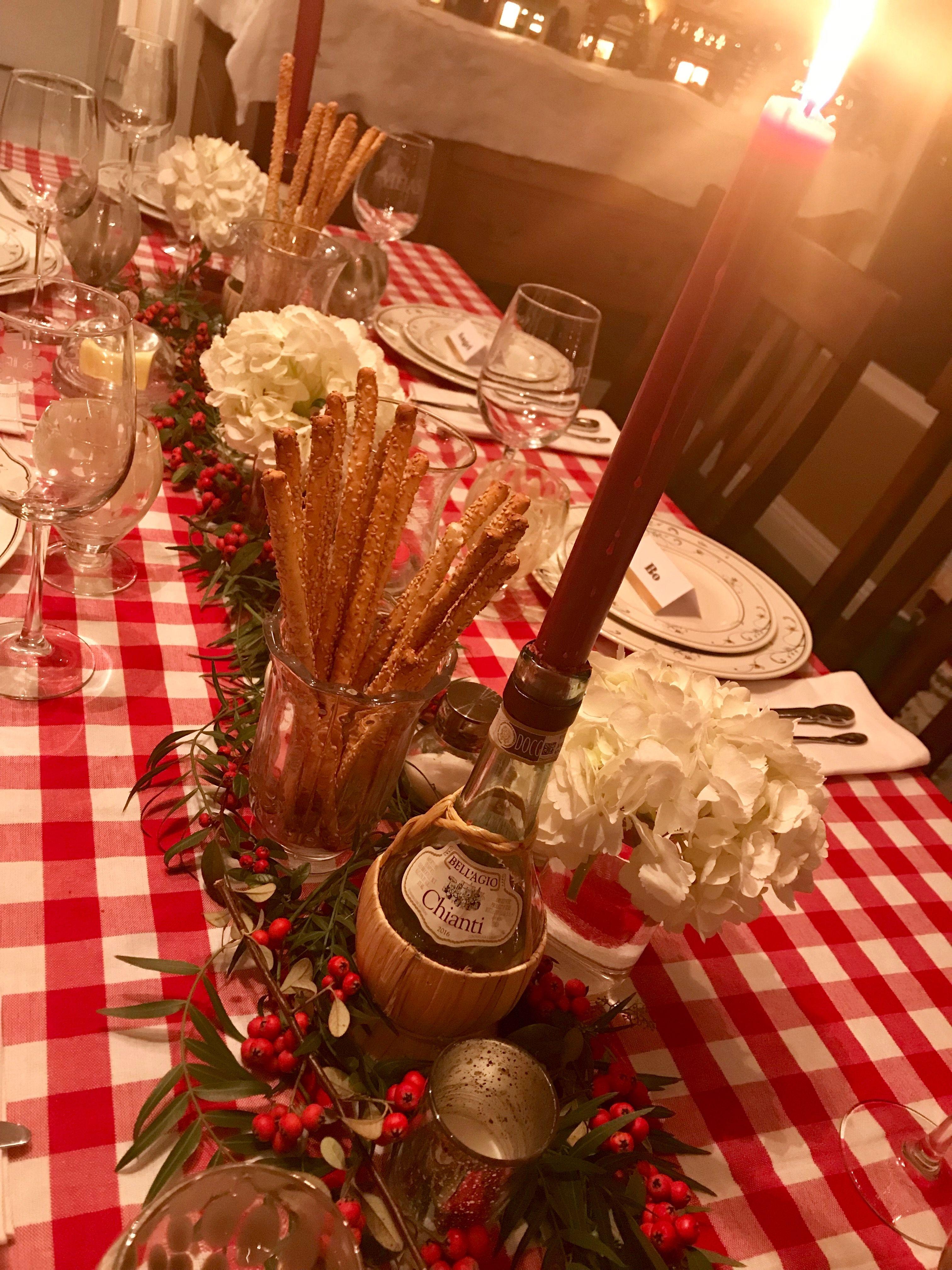 Italian Dinner Party Table Decor Italian Party Decorations