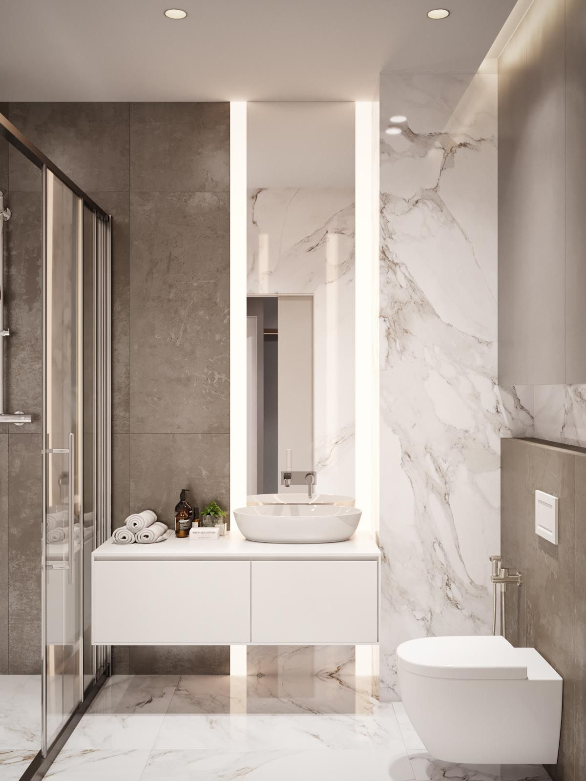 Inspirational Bathroom Decor Modern Luxury Home Design Under 60 Square Meters 3 Examples That In 2020 Modern Style Bathroom Bathroom Design Small Bathroom Styling
