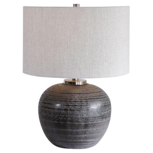 Uttermost Mikkel Brushed Nickel Table Lamp 26349 1 Bellacor Round Table Lamp Nickel Table Lamps Table Lamp