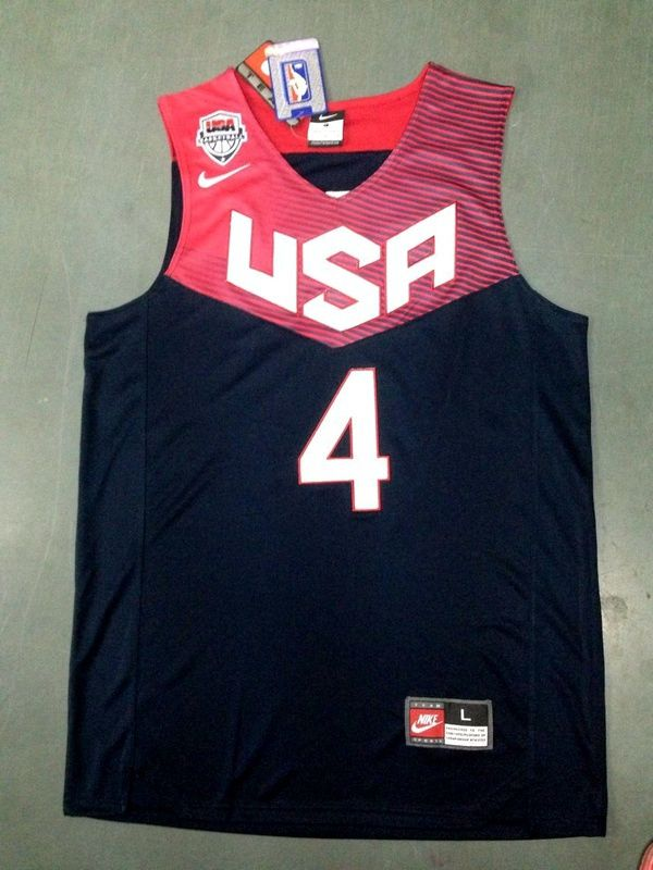 62ae54bde Stephen Curry 2014 FIBA Basketball World Cup team blue color jers ...
