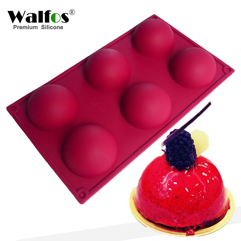 Walfos Professional Moule Zen 6 Cavity Stone Silicone Cake Mold