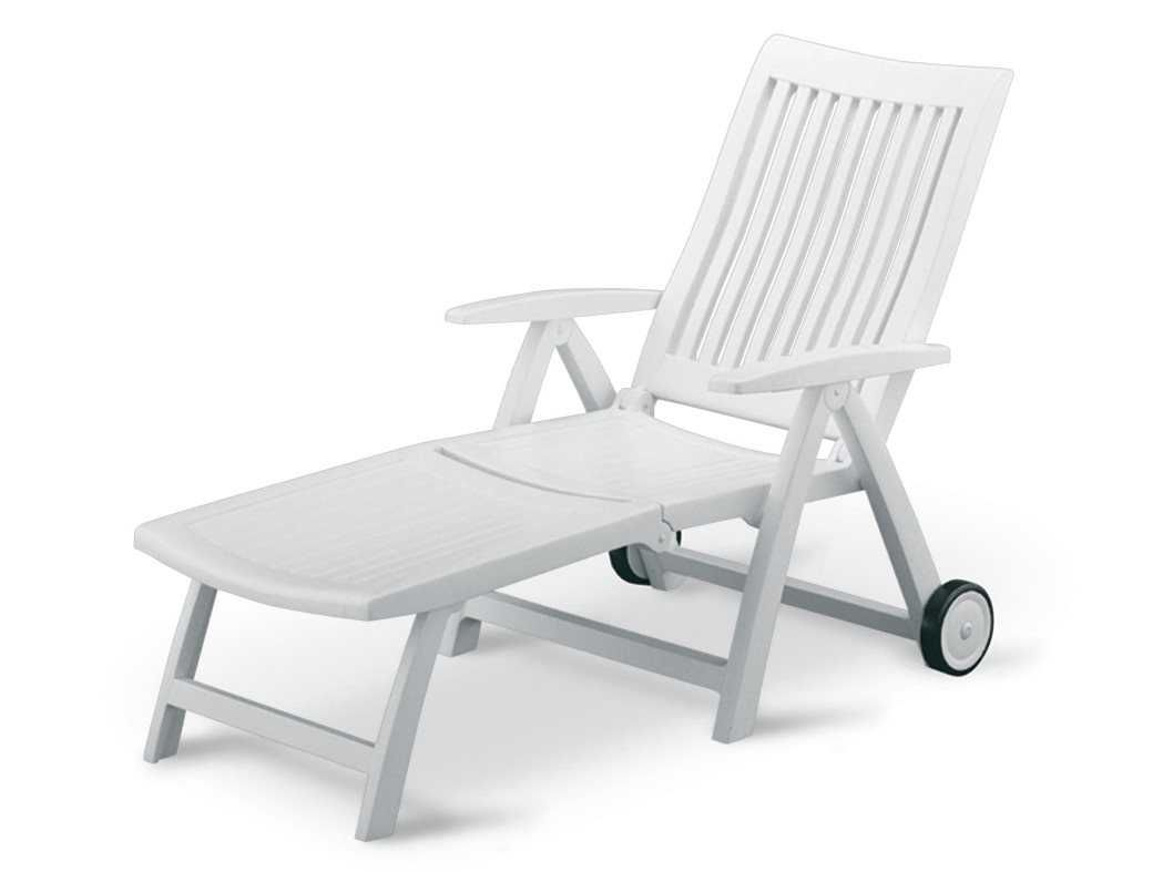 Kettler roma resin white multiposition chaise lounge in