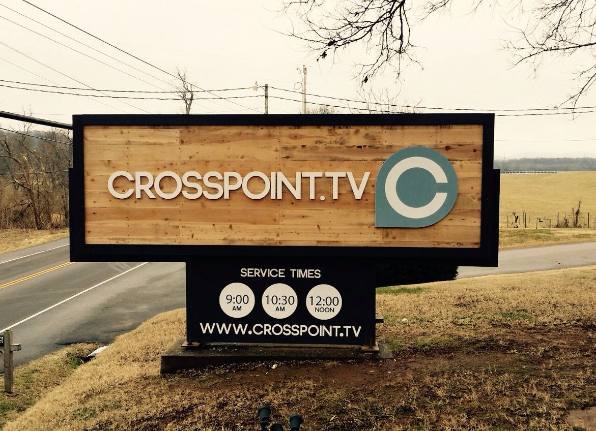 Reclaimed Wood Church Sign In Franklin Tn These Dimensional Letters Were Routed Out In House