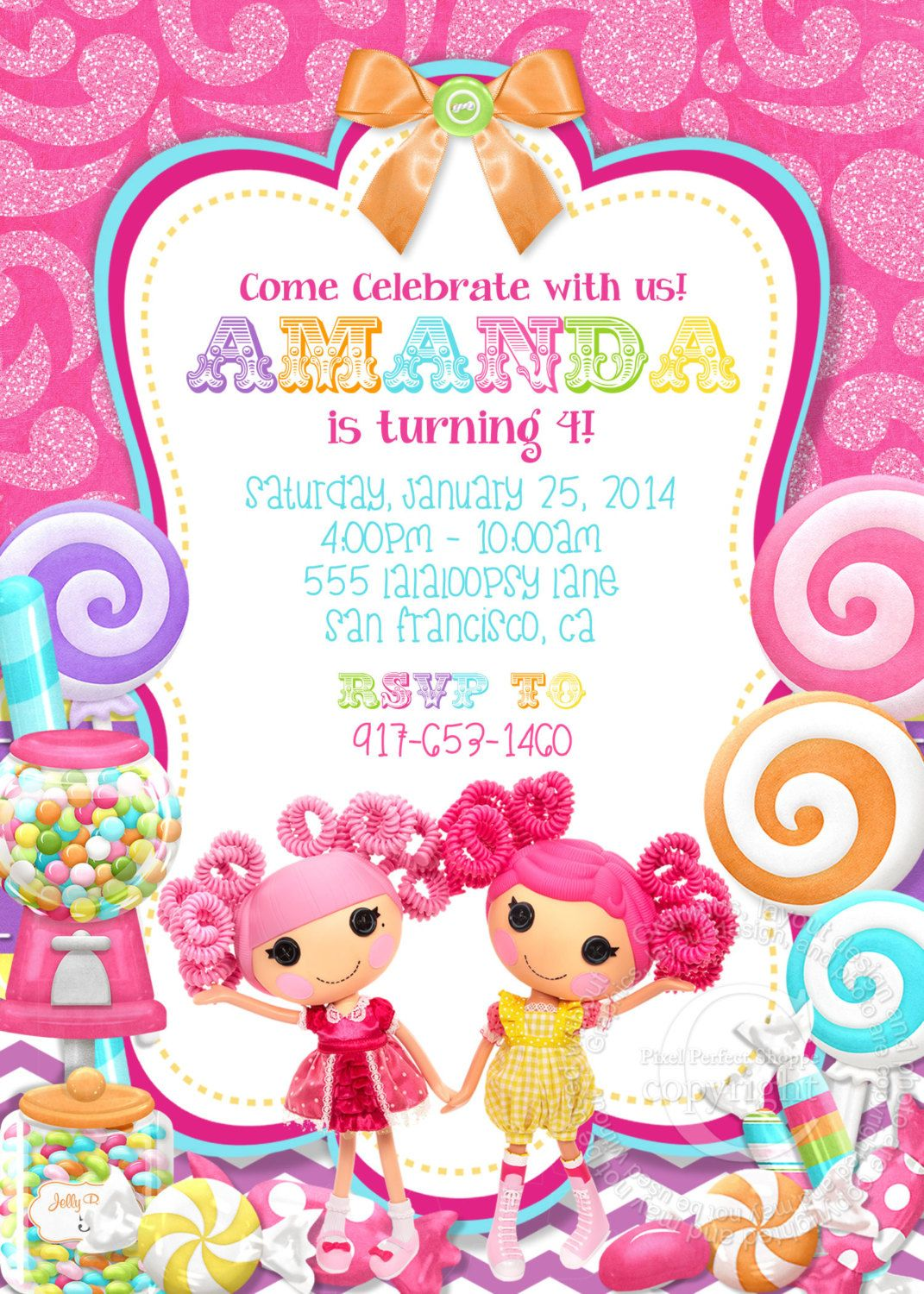 Lalaloopsy Invitation Lalaloopsy Birthday by PixelPerfectShoppe ...