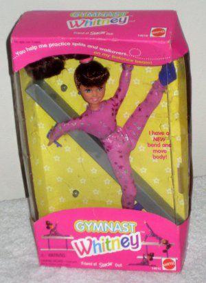 Gymnast Whitney Doll Friend Of Stacie Mattel 14610 Balance Beam 1995 Nib Barbie 25 Barbie Doll House Nostalgic Toys Barbie