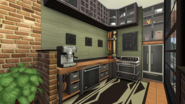San Myshuno modern industrial apartment Modern