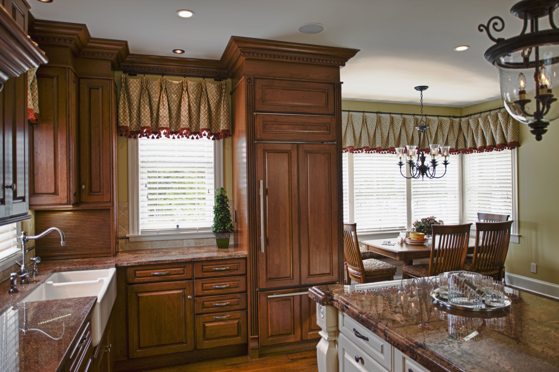 window treatments kitchen round rustic table custom treatment