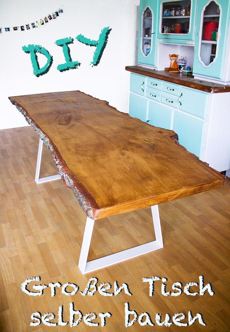 Anleitung Designer Tisch mit massiver Tischplatte selber