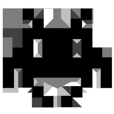 Stickers Space Invader Art Noir Et Blanc Pixel Art Noir Et Blanc Dessin Noir Et Blanc