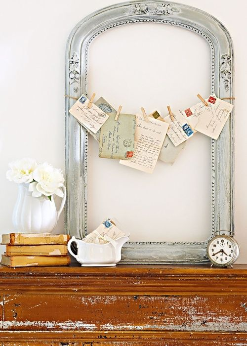 There are a number of creative uses for old frames. This would be ...
