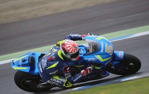 Mundial de MotoGP - Campeão na Moto2 ano passado, Johann Zarco testou a Suzuki…
